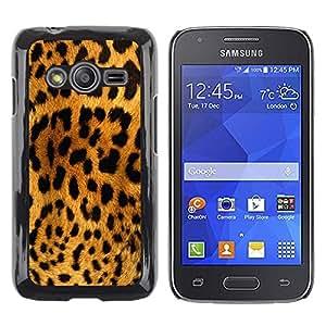 Paccase / Dura PC Caso Funda Carcasa de Protección para - Leopard Pattern Brown Black Yellow Cat - Samsung Galaxy Ace 4 G313 SM-G313F