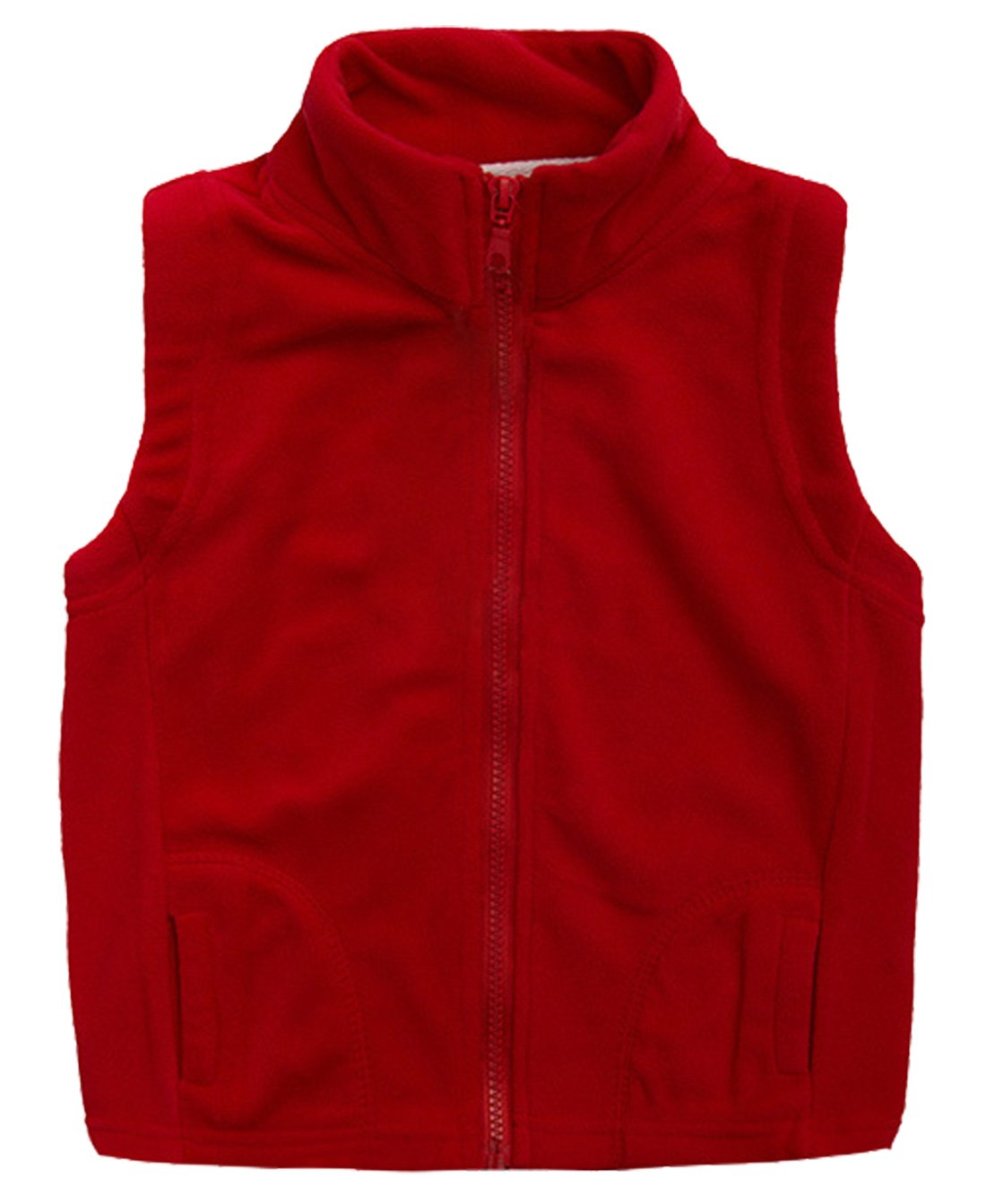 Aivtalk Little Boys' Fleece Warmth Sleeveless Vests Outfit Zipper Pocket 2-9T