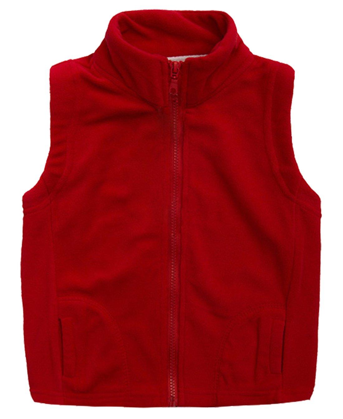 Aivtalk Girls Fleece Vest Warmth High Neck
