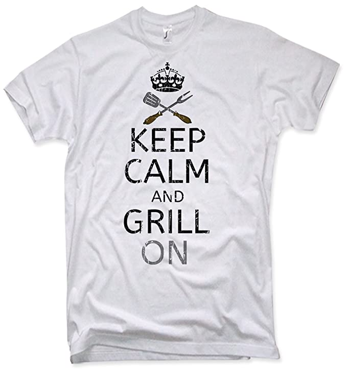 NG articlezz T-Shirt Keep Calm and Grill on Funshirt Grillen Geschenk BBQ S- XXL: Amazon.de: Bekleidung