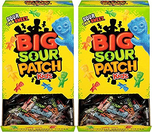 Sour Patch Kids Sweet and Sour Gummy Candy - Original, Individually Wrapped 240 Co (2 Cases) -