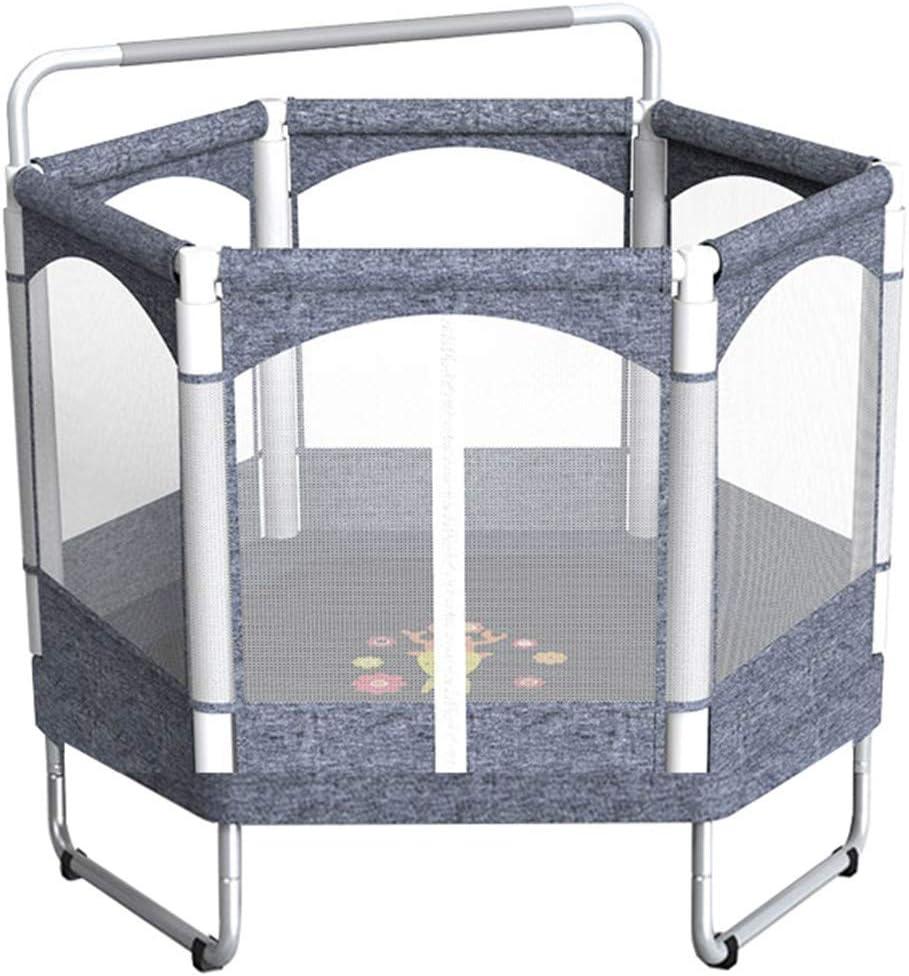 Trampolín Trampolín de seguridad para niños con red de cerramiento y barra horizontal, 128 cm / 50,4 pulgadas - Trampolín de jardín ideal para interiores y exteriores para regalo de cumpleaños de
