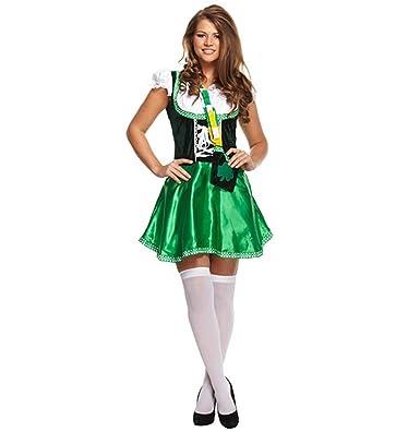 Islander Fashions Irish Lady Costume Ladies Fancy Dress Book Week Irish  Outfit One Size  Amazon.co.uk  Clothing e9cc3710f