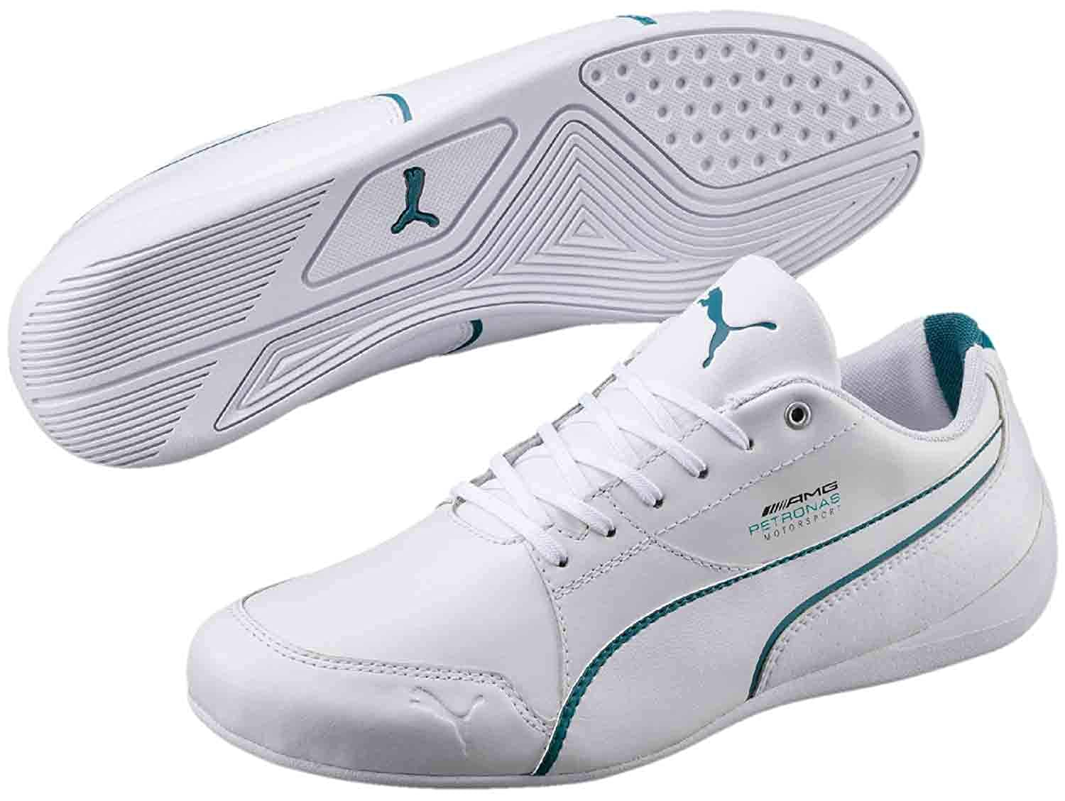 TALLA 43 EU. PUMA Dirft Cat 306150/001 White Turquoise Men's Low Sneaker White