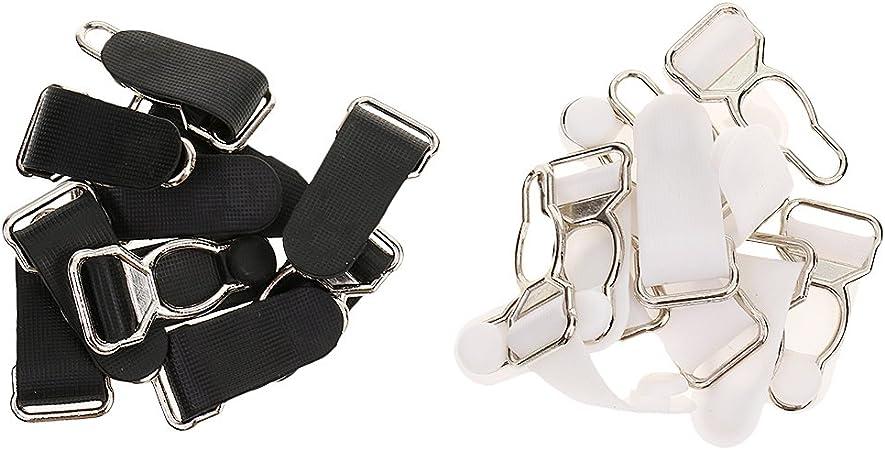 Girdles Clips Black Plastic Lingerie Stocking Garter Hooks Pack of 10
