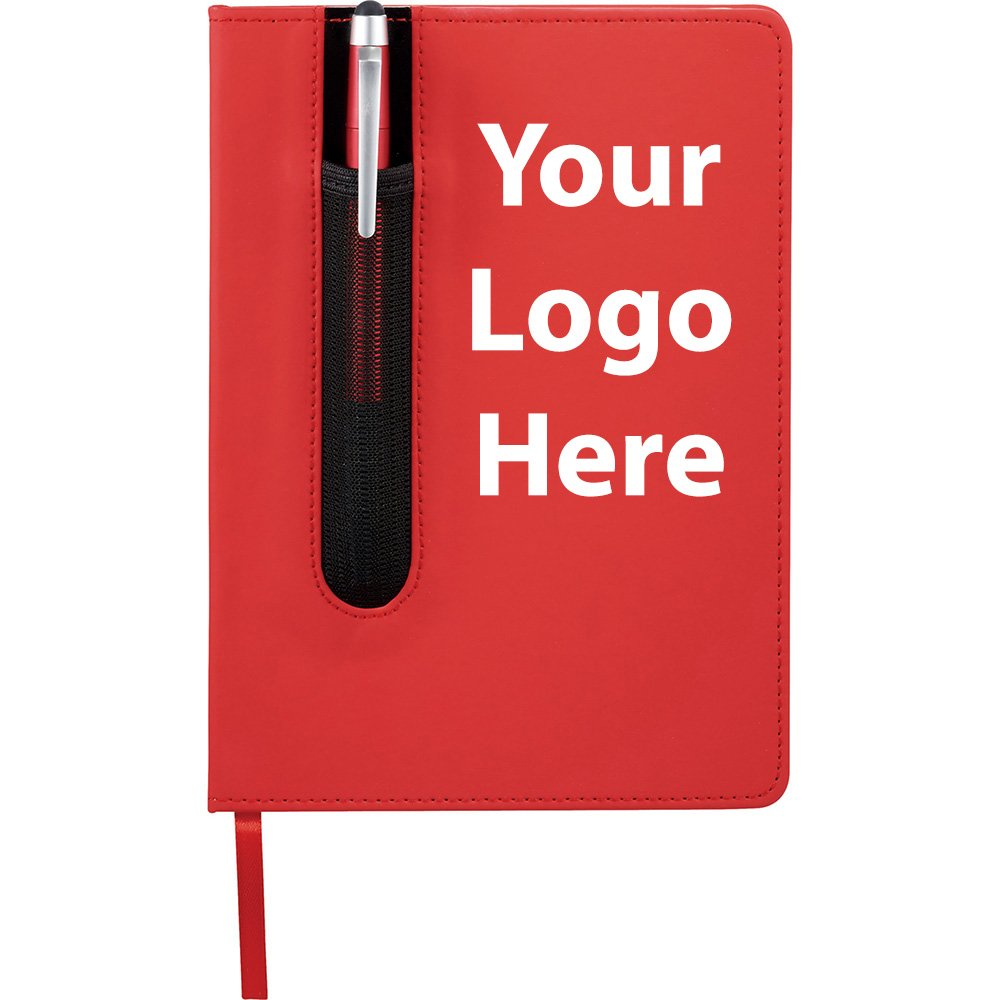 Valby Notebook with Pen Stylus - 150 Quantity - $3.45 Each - PROMOTIONAL PRODUCT / BULK / BRANDED with YOUR LOGO / CUSTOMIZED