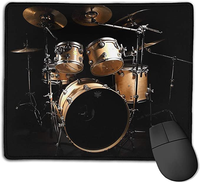 - Rectangle Rubber Mouse Mat for Computer//Laptop Washable Mouse Pad Rock Drum Stand Non-Slip Gaming Mousepad 7.9 X 9.5 in X 0.12 3mm Thick 4 Size Available