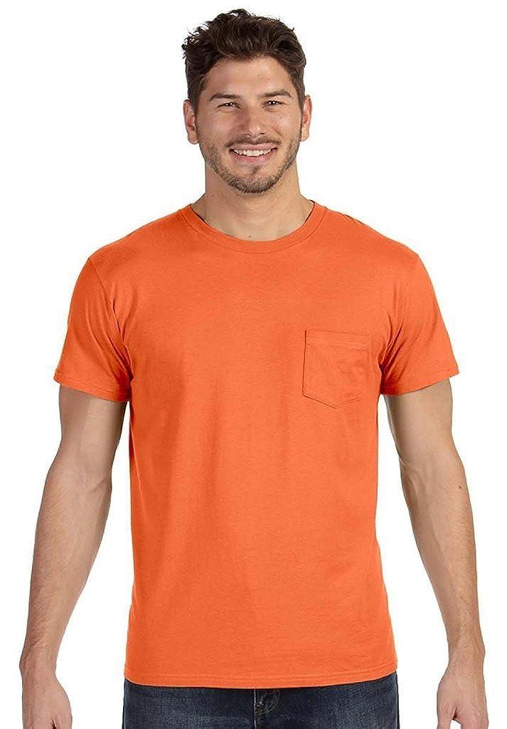 Hanes Mens Ringspun Cotton Nano-T T-Shirt with Pocket 498P