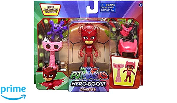 Amazon.com: Disney Junior PJ Masks Hero Boost Owlette Action Figure: Toys & Games