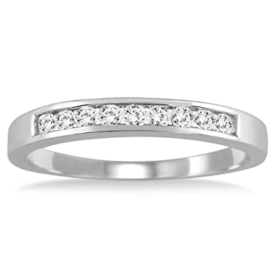 Amazon AGS Certified 1 4 Carat TW Channel Set Diamond Band in