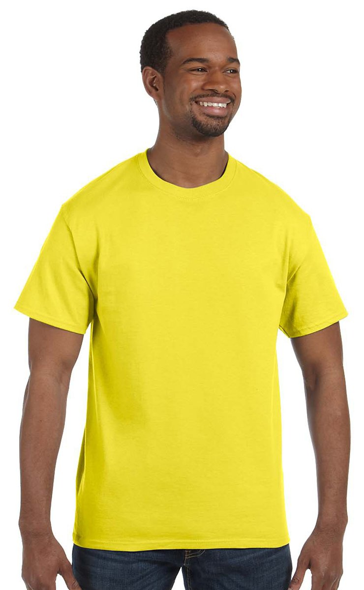 Gildan Men's Heavy Taped Neck Jersey T-Shirt, Daisy, XXXXX-Large
