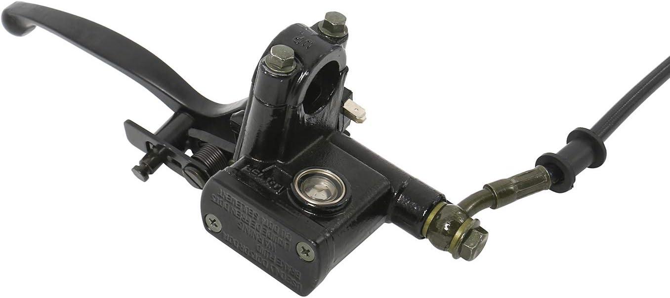 NovelBee Front Disc Brake Master Cylinder Hydrualic Caliper Assembly for 50cc 70cc 90cc 110cc 125cc ATV