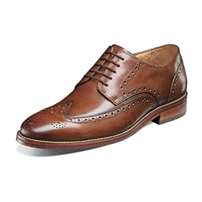 26a8bc02b1f Image Unavailable. Image not available for. Color  Florsheim Mens Salerno  Wingtip Cognac Oxford ...