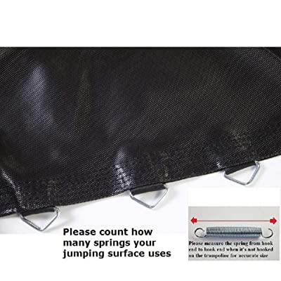 "Jumping Surface 9' x 14' Oval Trampoline with 74 V-Rings for 8.5"" Springs : Sports & Outdoors"