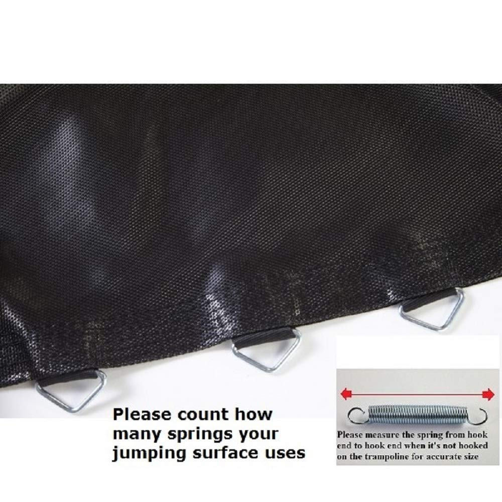 JumpKing BED1160-5.5 11' Trampoline with 60 V-Rings for 5.5'' Springs Jumping Surface, Black by JumpKing