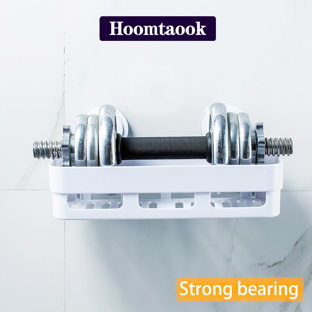 HOOMTAOOK Super Power Vacuum Suction Bathroom Shelf No Drill Storage ...