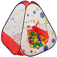 LittleTom Tente de Jardin à Boules 90x90x90cm Jouet Jeunes Enfants à Pois