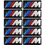 10 Premium M Tec Sport Badge Sticker Emblems for BMW M1 M2 M3 M4 M5 M6 Series Rim Wheels and Accessories with 3M VHB…