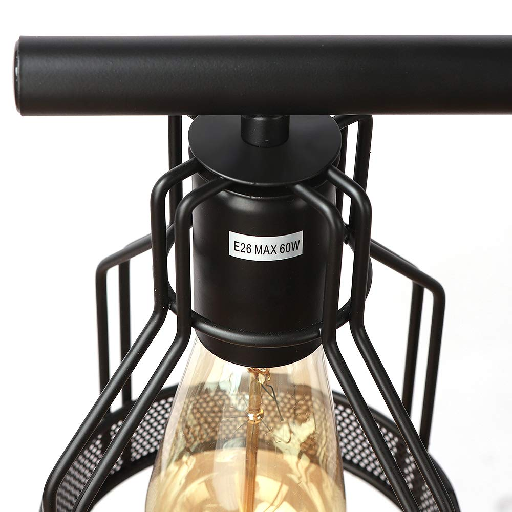 Kitchen Island Lighting 4-Light Pendant Light Fixture with Paint Finish Cage Lampshade Modern Industrial Chandelier by EE Eleven Master (Image #6)