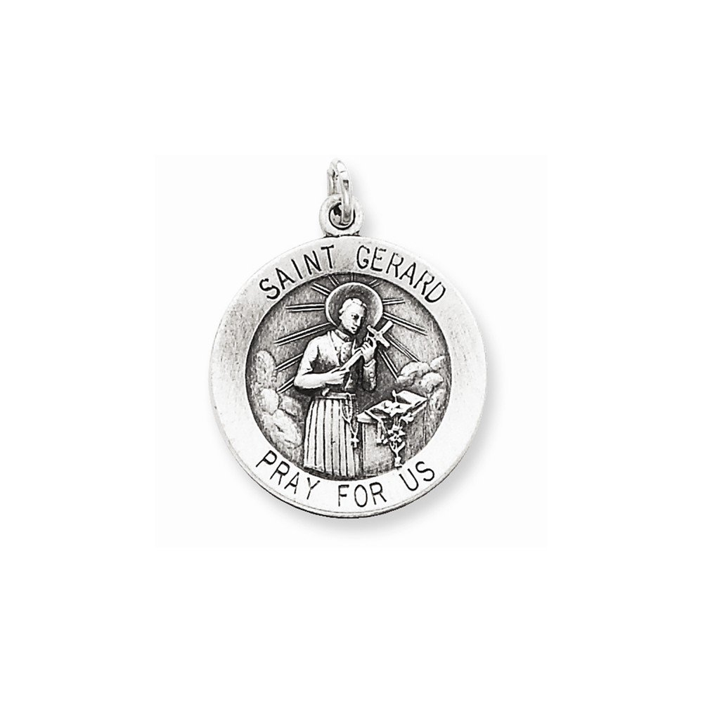 Sterling Silver Antiqued Saint Gerard Medal