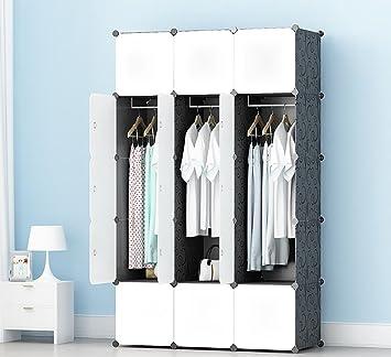 5b4b35a976 Amazon|MIRUIDA17 大容量の収納キャビネット衣類収納洋服 ラック整理棚 ...