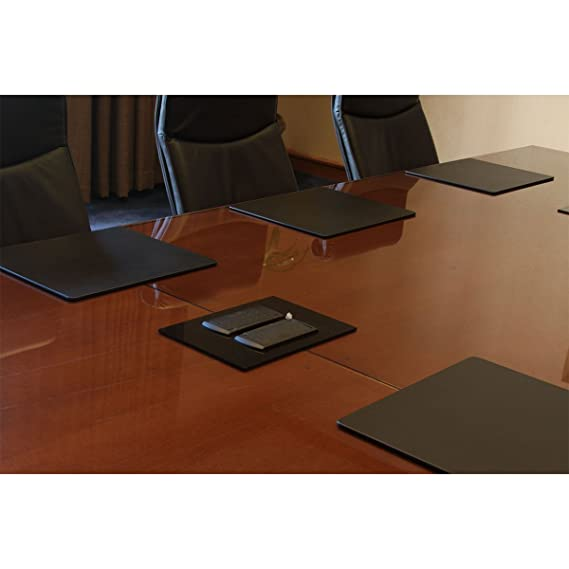 Amazoncom Dacasso Black Leatherette X Conference Table Pad - Conference table placemats