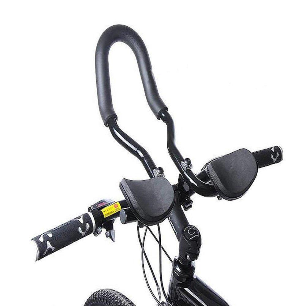GigaMax(TM)Mountain Road MTB Bike Bicycle Aluminum Alloy Triathlon Aero Rest Bar Relaxation Cycling Handlebar by GigaMax B00R2HXUSS