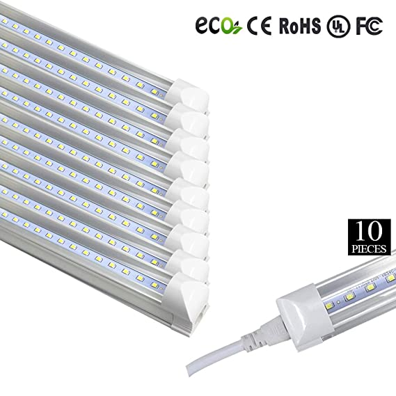 brillihood T8 T12 integrierte LED-Röhre mit Halterung, 40 W 8 Fuß ...