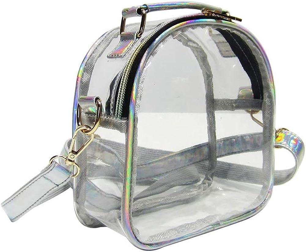 Women Transparent Clear Bag Purse Clutch Crossbody Shoulder Bag PVC Makeup Bag with Removable Shoulder Strap Outdoor Bag