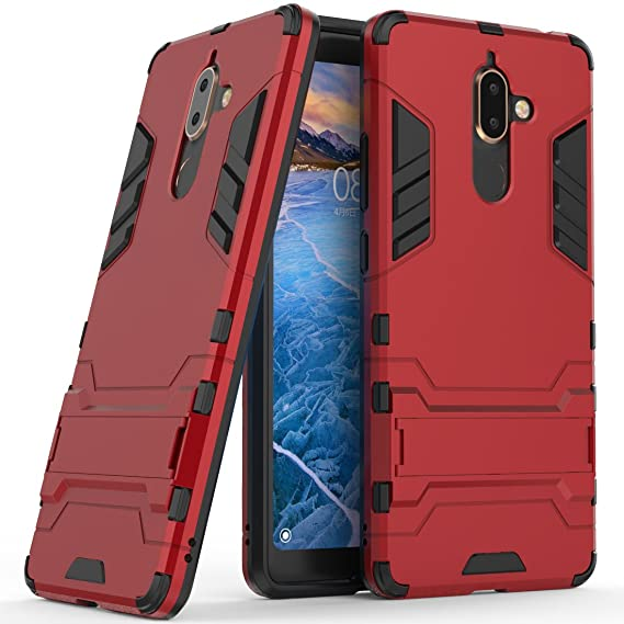 meet aaa98 79d7d Nokia 7 Plus Hybrid Case, Nokia 7 Plus Shockproof Case, Dual Layer Hybrid  Rugged Case Hard Shell Cover with Kickstand for 6.0'' Nokia 7 Plus