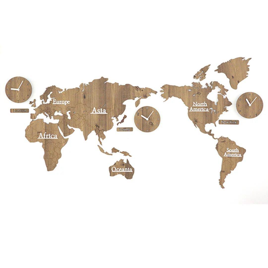 YKFN 世界地図 ファッション ホテルレ用 ストラン用 おしゃれ 掛時計 壁掛け リビング 掛け時計 時計 現代 個性 アイデア B06XKQYD1V タイプ6 タイプ6
