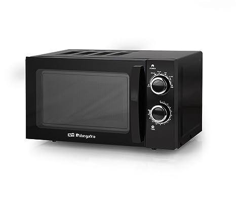 Orbegozo MI 2017 - Microondas sin grill (700 W de potencia, 20 L, 6 niveles de funcionamiento), color negro