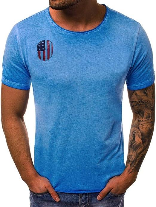 Toponly - Camiseta de manga corta para hombre, diseño de estrellas, rayas, bandera de EE. UU, impresión 3D, suéter patriótico: Amazon.es: Instrumentos musicales