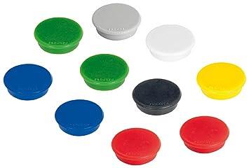 FRANKEN Haftmagnet Haftkraft 300 g Durchmesser 24 mm weiß 10 Magnete