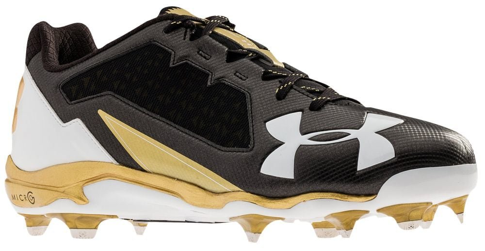 [アンダーアーマー] Under Armour Deception Low DT メンズ ベースボール [並行輸入品] B07234X3FK US14.0|Black/Metallic Gold Black/Metallic Gold US14.0