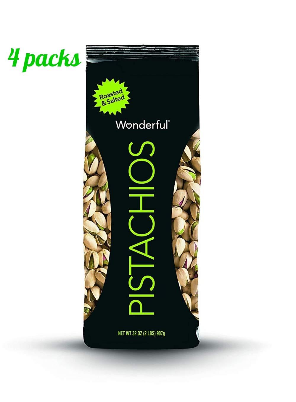 Wonderful Pistachios, 32 Ounce Bag (Pack of 4) by Wonderful Pistachios & Almonds