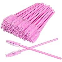 H HOME-MART 100 PCS Black Disposable Eyelash Brushes Mascara Wands Eye Lash Eyebrow Applicator Cosmetic Makeup Brush…