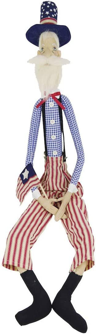 GALLERIE II Freedom Sam Figure Red White Blue 4th of July Memorial Day Labor Day Americana Joe Spencer Gathered Traditions Figurine Freedom Sam Fig
