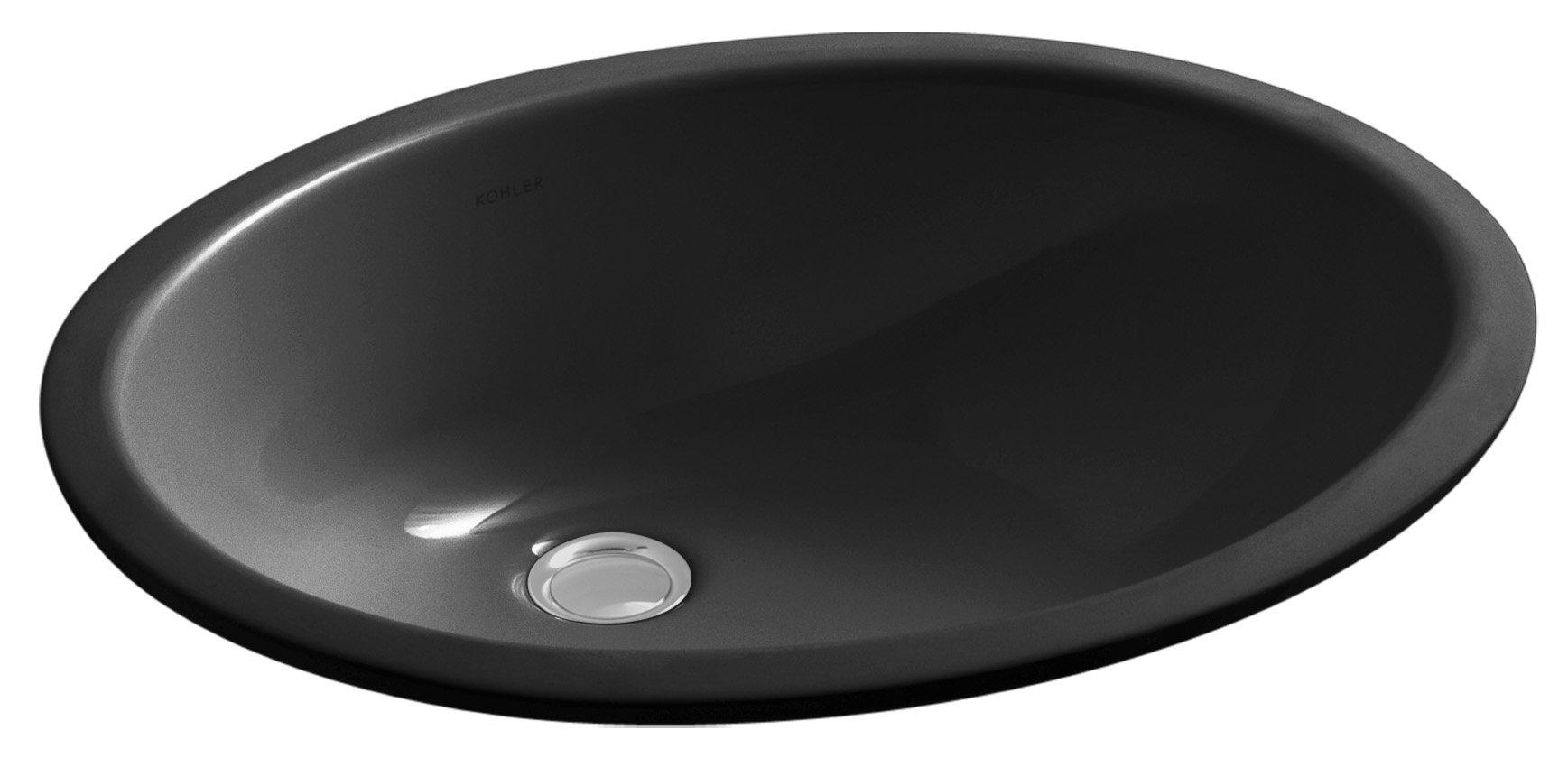 KOHLER K-2210-7 Caxton Undercounter Bathroom Sink, Black Black by Kohler