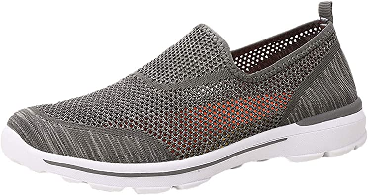 New Men mesh breathable slip on Loafer sport Hollow Leisure shoes Sneaker Shoes