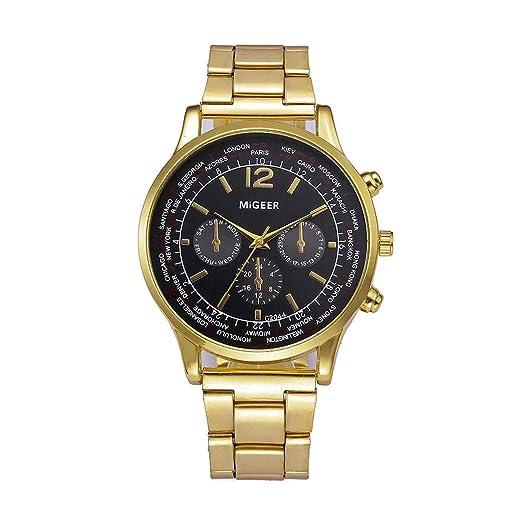 DAYLIN Pareja Relojes Hombre Mujer de Marca Lujo Acero Inoxidable Reloj Pulsera de Cuarzo Analogico Reloj