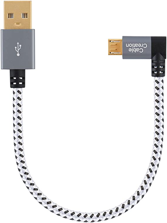 CHENZHIQIANG Connectors Computer Cable 90 Degree Angle Left Mini USB to USB Data//Charging Cable Length 28cm