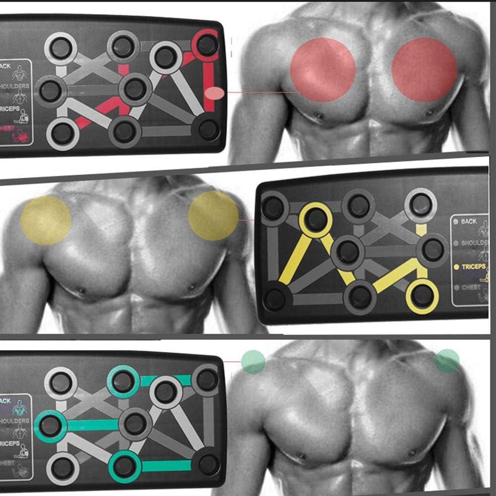 Carte De Push-ups Multifonctions waterfaill Support De Musculation 14 en 1 pour La Musculation Supports De Push-up Syst/ème Complet De Formation Au Push-up