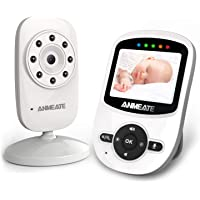 Video Baby Monitor with Digital Camera, ANMEATE Digital 2.4Ghz Wireless Video Monitor with Temperature Monitor, 960ft…