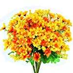 Turelifes-4pcs-Artificial-Flowers-Bouquets-Fake-Mini-Daisy-Flower-7-Branches-28-Heads-Silk-Floral-for-Office-Home-Wedding-Decoration-Orange