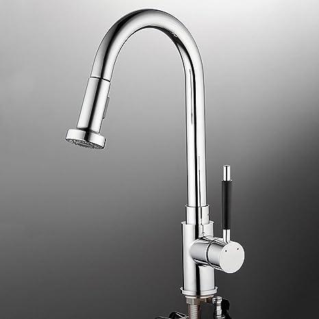 Neilyn Cromo Bianco estraibile Rubinetto rubinetto per cucina ...