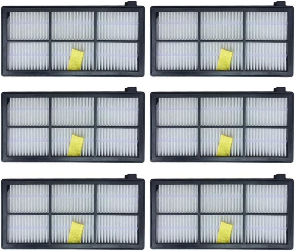 filtros para  iRobot Roomba 800 900 870 880 890 980 pack 6
