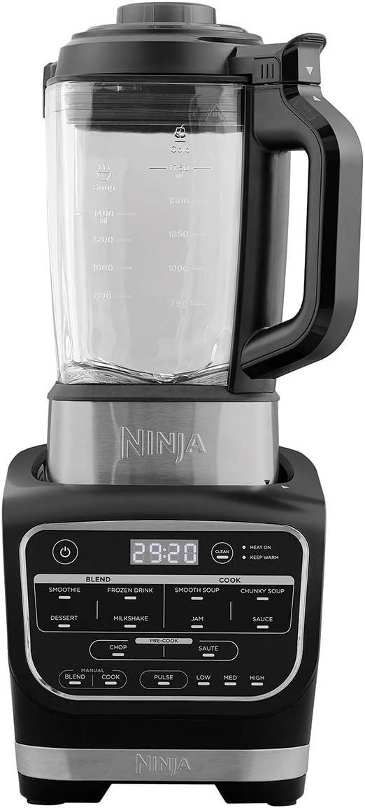 Ninja HB150EU Licuadora y Batidora, Jarra de Vidrio, 1000 W, Negro ...