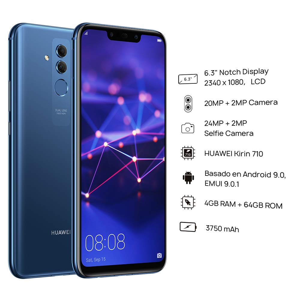 Huawei Mate 20 Lite SNE-LX3 64GB (Factory Unlocked) 6.3