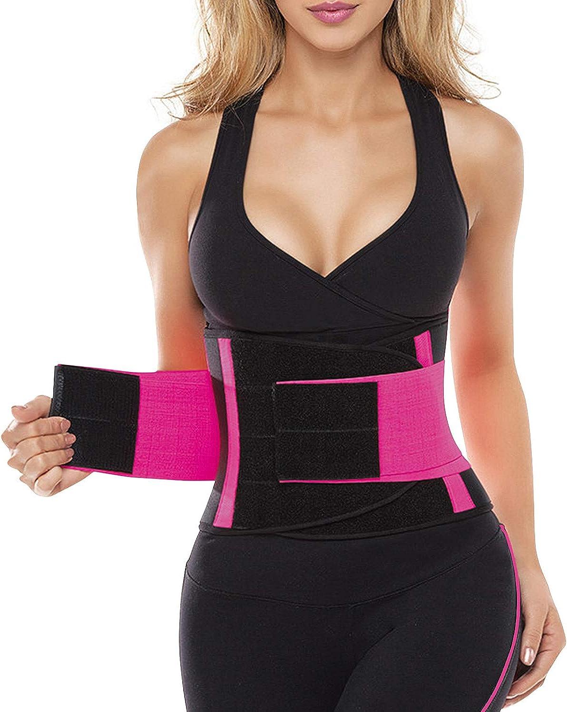 SHAPERX Women Waist Trainer Belt Waist Trimmer Slimming Body Shaper Sports Girdles Workout Belt